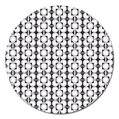 Pattern Background Texture Black Magnet 5  (round)