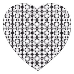 Pattern Background Texture Black Jigsaw Puzzle (heart)