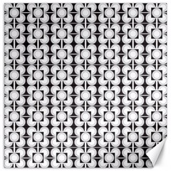 Pattern Background Texture Black Canvas 16  X 16