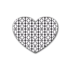 Pattern Background Texture Black Heart Coaster (4 Pack)