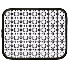 Pattern Background Texture Black Netbook Case (large)