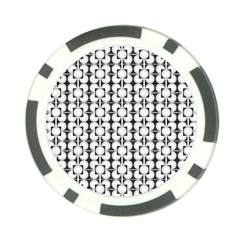 Pattern Background Texture Black Poker Chip Card Guard (10 Pack)