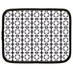 Pattern Background Texture Black Netbook Case (XXL)