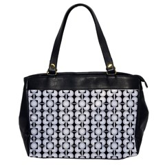 Pattern Background Texture Black Office Handbags
