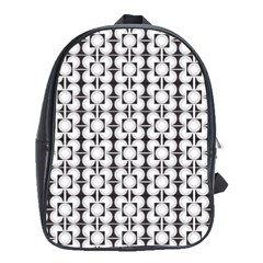 Pattern Background Texture Black School Bags (xl)