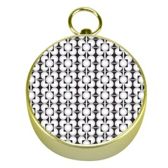 Pattern Background Texture Black Gold Compasses
