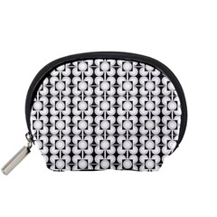 Pattern Background Texture Black Accessory Pouches (small)