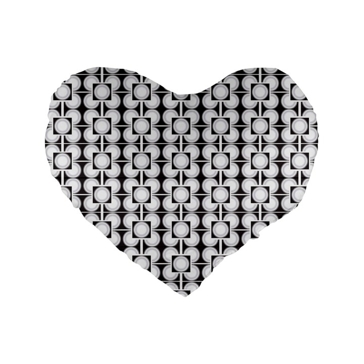 Pattern Background Texture Black Standard 16  Premium Flano Heart Shape Cushions