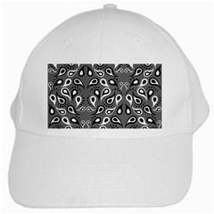 Paisley Pattern Paisley Pattern White Cap