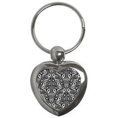 Paisley Pattern Paisley Pattern Key Chains (Heart)