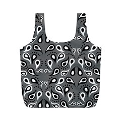 Paisley Pattern Paisley Pattern Full Print Recycle Bags (m)