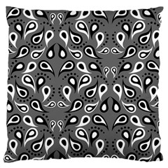 Paisley Pattern Paisley Pattern Large Flano Cushion Case (two Sides)