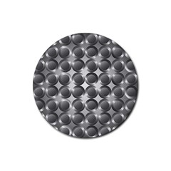 Metal Circle Background Ring Rubber Coaster (round)