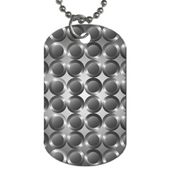 Metal Circle Background Ring Dog Tag (One Side)