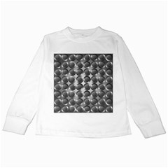 Metal Circle Background Ring Kids Long Sleeve T Shirts