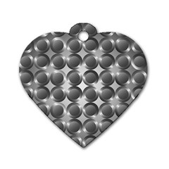Metal Circle Background Ring Dog Tag Heart (two Sides)