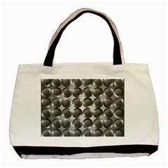 Metal Circle Background Ring Basic Tote Bag (Two Sides)