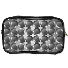 Metal Circle Background Ring Toiletries Bags 2 Side