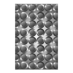 Metal Circle Background Ring Shower Curtain 48  x 72  (Small)
