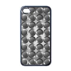 Metal Circle Background Ring Apple iPhone 4 Case (Black)