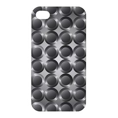 Metal Circle Background Ring Apple iPhone 4/4S Hardshell Case