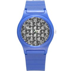 Metal Circle Background Ring Round Plastic Sport Watch (S)