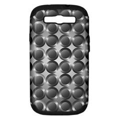 Metal Circle Background Ring Samsung Galaxy S III Hardshell Case (PC+Silicone)