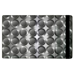 Metal Circle Background Ring Apple iPad 2 Flip Case