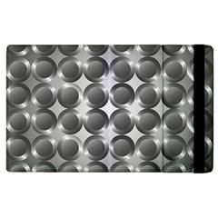 Metal Circle Background Ring Apple iPad 3/4 Flip Case