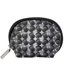 Metal Circle Background Ring Accessory Pouches (small)