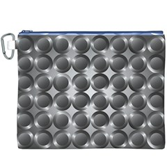 Metal Circle Background Ring Canvas Cosmetic Bag (XXXL)
