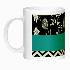 Flowers Turquoise Pattern Floral Night Luminous Mugs