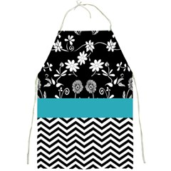 Flowers Turquoise Pattern Floral Full Print Aprons