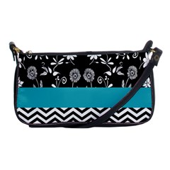 Flowers Turquoise Pattern Floral Shoulder Clutch Bags