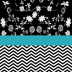 Flowers Turquoise Pattern Floral Magic Photo Cubes