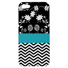 Flowers Turquoise Pattern Floral Apple Iphone 5 Hardshell Case