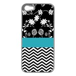 Flowers Turquoise Pattern Floral Apple iPhone 5 Case (Silver) Front