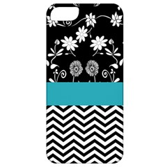 Flowers Turquoise Pattern Floral Apple iPhone 5 Classic Hardshell Case