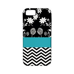Flowers Turquoise Pattern Floral Apple iPhone 5 Classic Hardshell Case (PC+Silicone)