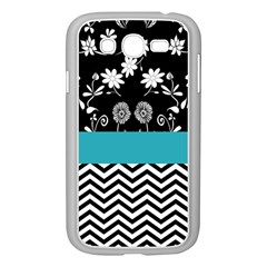 Flowers Turquoise Pattern Floral Samsung Galaxy Grand DUOS I9082 Case (White)