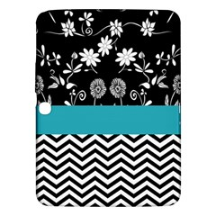 Flowers Turquoise Pattern Floral Samsung Galaxy Tab 3 (10.1 ) P5200 Hardshell Case