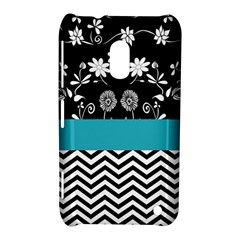 Flowers Turquoise Pattern Floral Nokia Lumia 620