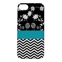 Flowers Turquoise Pattern Floral Apple Iphone 5s/ Se Hardshell Case