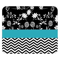 Flowers Turquoise Pattern Floral Double Sided Flano Blanket (small)