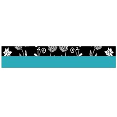 Flowers Turquoise Pattern Floral Flano Scarf (large)