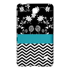 Flowers Turquoise Pattern Floral Samsung Galaxy Tab 4 (8 ) Hardshell Case
