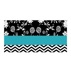 Flowers Turquoise Pattern Floral Satin Wrap