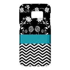 Flowers Turquoise Pattern Floral Samsung Galaxy S7 Hardshell Case