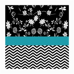 Flowers Turquoise Pattern Floral Medium Glasses Cloth