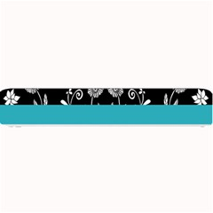 Flowers Turquoise Pattern Floral Small Bar Mats